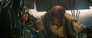 Missing scientist Francis Hunt (Julian Wadham) finds himself tangled up in Nazi machine cords.