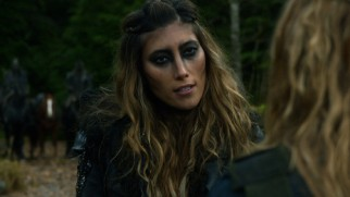 "The Grounders' leader Anya (Dichen Lachman) agrees to a tense meeting with The 100's ""princess."""
