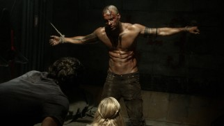 The Grounder who eventually comes to identify himself as Lincoln (Ricky Whittle) is held prisoner and tortured by some of The 100.