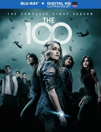 The 100: The Complete First Season Blu-ray + Digital HD UltraViolet combo pack cover art -- click to buy from Amazon.com