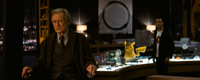 Howard Clifford (Bill Nighy), the visionary behind Ryme City, provides Tim (Justice Smith) and Detective Pikachu (Ryan Reynolds) with holographic proof that Tim's father isn't dead.