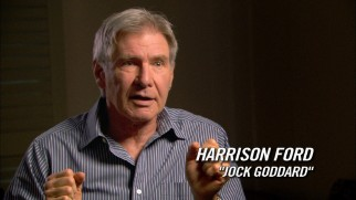 Despite the earring and the significantly younger wife, a fully-haired Harrison Ford reveals he acts his age when it comes to keeping off of social networking. No Twitter for him!