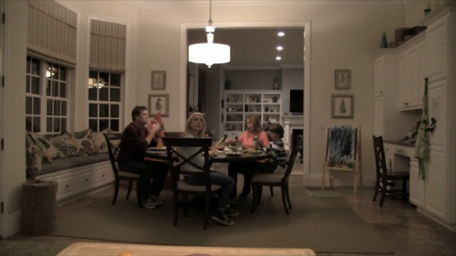 The Nelson family's dinner is ever so slightly disturbed by something... paranormal.