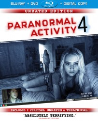 Paranormal Activity 4 Blu-ray + DVD + Digital Copy combo pack cover art