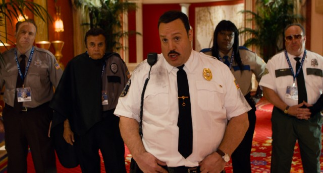 Paul Blart (Kevin James) is backed up by a ragtag team of eccentric security officers.