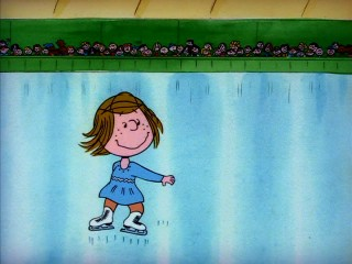 "Peppermint Patty shows off serious ice skating skills in ""She's a Good Skate, Charlie Brown"", which first aired immediately following the 1980 Winter Olympics."