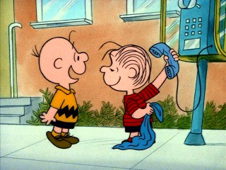 "Charlie Brown is hopeful that Linus will track down a girl he saw on television in ""Someday You'll Find Her, Charlie Brown."""