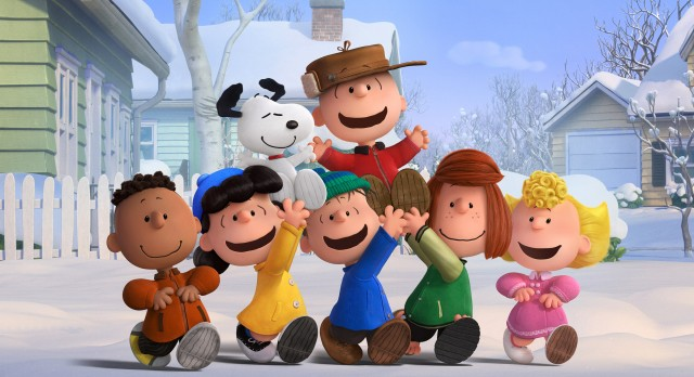 "Charlie Brown and friends enjoy a snow day in ""The Peanuts Movie."""