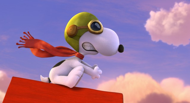 "Snoopy takes to the skies to do battle with his arch nemesis the Red Baron in ""The Peanuts Movie."""