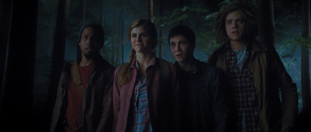 In search of the Golden Fleece, Grover (Brandon T. Jackson), Annabeth (Alexandra Daddario), Percy (Logan Lerman) and Tyson (Douglas Smith) summon a most unusual taxi cab.