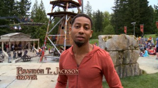 "Making a movie isn't just fun and games, but ""Percy Jackson: Sea of Monsters"" looks like that in a pair of behind-the-scenes shorts featuring Brandon T. Jackson."