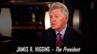 "James R. Higgins, who plays a Clintonesque American President, has some thoughts about ""Persecuted"" in the DVD's untitled making-of featurette."