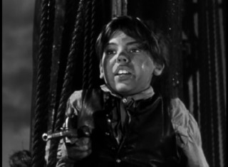 "Before voicing Peter Pan, Bobby Driscoll played young Jim Hawkins in Disney's live-action ""Treasure Island"", excerpted in ""The 'Peter Pan' Story."""