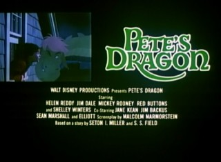 Elliott shows up outside Pete's window among a theatrical reissue trailer's credits block.