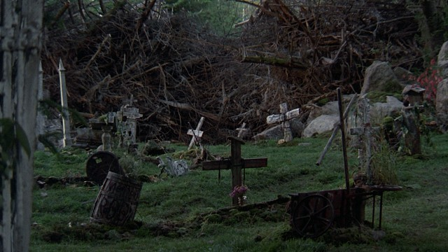 The titular pet sematary (sic) leads to an unusual second graveyard used as Indian burial grounds.