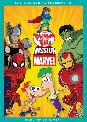 Phineas and Ferb: Mission Marvel DVD cover art -- click to buy from Amazon.com