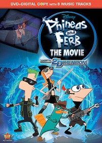 Phineas and Ferb: The Movie - Across the 2nd Dimension DVD cover art -- click to buy from Amazon.com
