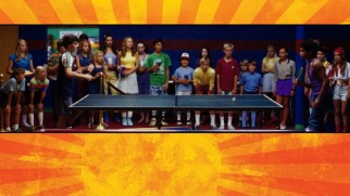 Rad and Teddy draw a crowd with their long volley on the Ping Pong Summer Blu-ray menu.