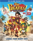 The Pirates! Band of Misfits: Blu-ray 3D + Blu-ray + DVD + UltraViolet combo pack cover art -- click to buy from Amazon.com
