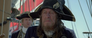 Hector Barbossa (Geoffrey Rush) is back again, now as a peg-legged privateer in the King's Navy.