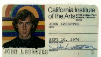 "John Lasseter's 1976 CalArts student ID features in his introduction to ""Lady and the Lamp."""