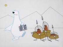 "A polar bear distracts hunters ""Somewhere in the Arctic"" with The Temptations' ""My Girl."""
