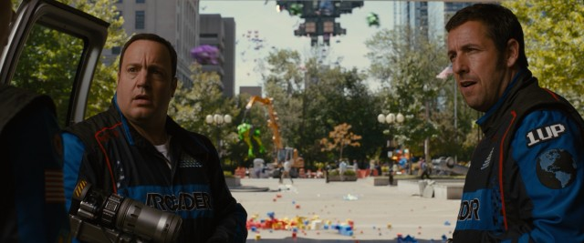 """Pixels"" casts Kevin James as President of the United States and Adam Sandler as his underachieving lifelong pal, whose knowledge of '80s video games might be the only thing saving the planet from alien attack."