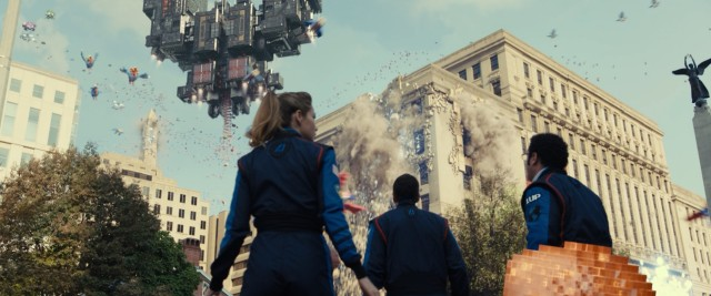 """Pixels"" asks that age-old question: Can arcaders save the world from destruction via 8-bit video game?"