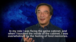 Pac-Man creator Toru Iwatani discusses his brief arcade cameo, but not the fact that another actor plays him for laughs in the film.