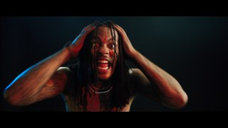 Waka Flocka flame can't believe he forgot his shirt on the day he was making a music video with Good Charlotte!