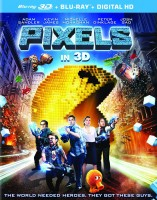 Pixels: Blu-ray 3D + Blu-ray + Digital HD combo pack cover art -- click to buy from Amazon.com