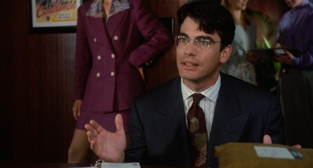 Larry Levy (Peter Gallagher), Griffin's threat of a replacement, poses the concept of doing away with writers and pulling movie ideas straight from the news.