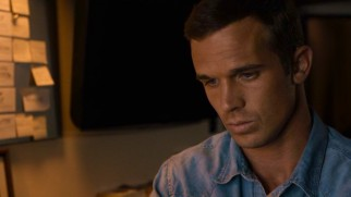 Journalism keeps Hayley's husband (Cam Gigandet) occupied while she travels.