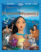 Pocahontas & Pocahontas II: Journey to a New World: 3-Disc Special Edition 2 Movie Collection Blu-ray + DVD cover art -- click to buy from Amazon.com