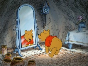 Winnie the Pooh builds up his appetite with up, down, touch the ground exercises.