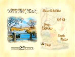 The Many Adventures of Winnie the Pooh: 25th Anniversary Edition DVD menu