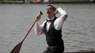 "The art of canoe dancing is unforgettably celebrated by this talented old gentleman (Fred Armisen) in ""No Olympics."""