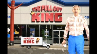 A furniture salesman (Jeff Goldblum) has his moniker The Pull Out King questioned.