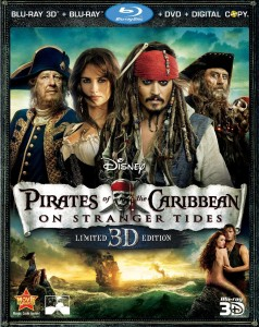 Pirates of the Caribbean: On Stranger Tides Blu-ray 3D + Blu-ray + DVD + Digital Copy combo pack cover art