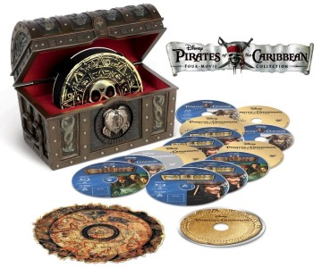 Pirates of the Caribbean: 15-disc Four-Movie Collection artwork