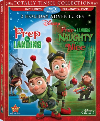 Prep & Landing and Prep & Landing: Naughty vs. Nice - Totally Tinsel Collection Blu-ray + DVD cover art -- click to buy from Amazon.com
