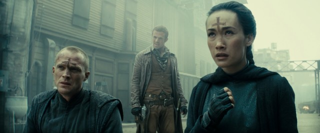 Three is not a crowd when the three are a priest (Paul Bettany), a young sheriff (Cam Gigandet), and a priestess (Maggie Q).