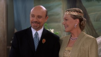 The sequel develops a romance between Queen Clarisse (Julie Andrews) and her driver Joe (Hector Elizondo).
