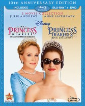 The Princess Diaries & The Princess Diaries 2: Royal Engagement - 2 Movie Collection Blu-ray + DVD combo cover art - click to buy from Amazon.com