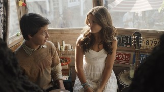 Underclassmen Lucas (Nolan Sotillo) and Simone (Danielle Campbell) bond over music and guitars, but a prom invitation comes between them.