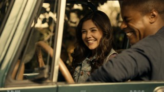 Danielle Campbell and De'Vaughn Nixon crack up in the blooper reel's look at the shooting of their car scene.