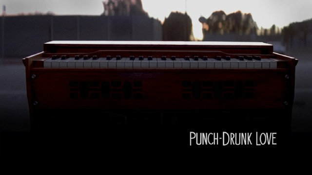 A shot of the harmonium left on the side of the road serves as Criterion's simple but effective Punch-Drunk Love menu image.