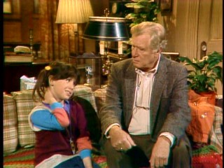 Punky Brewster (Soleil Moon Frye) adds color and happiness to the life of old widower Henry Warnimont (George Gaynes).
