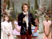 Andy Gibb hosts and judges the Miss Adorable beauty pageant.