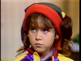 Every color is well-represented in the wardrobe of Punky Brewster (Soleil Moon Frye).